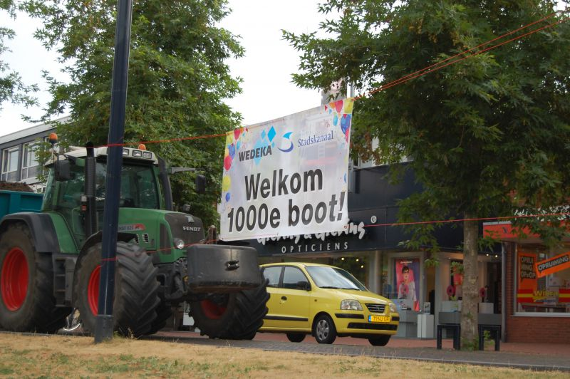 1000ste schipper aangemeerd in Stadskanaal.