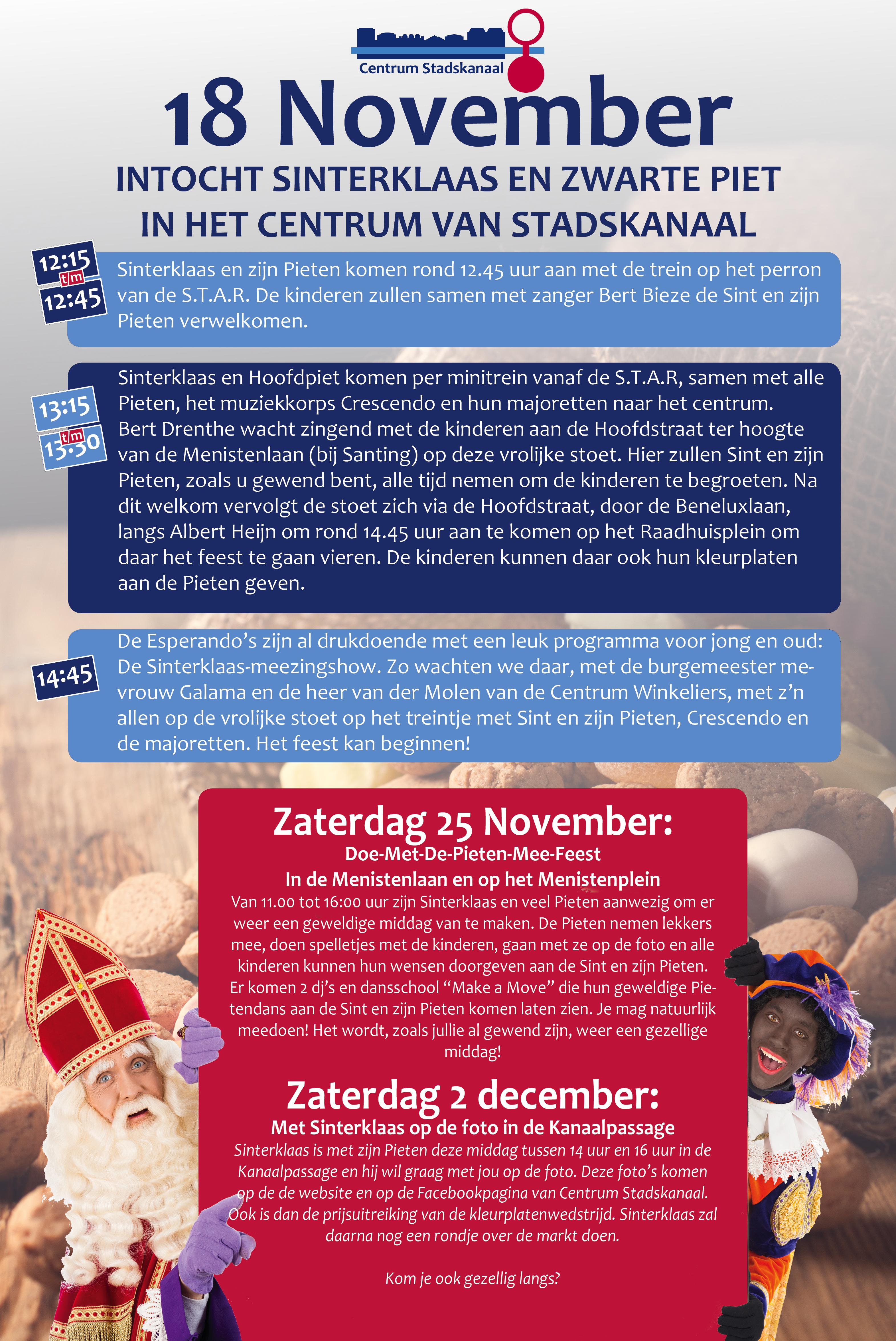 Sinterklaas Intocht Centrum Stadskanaal