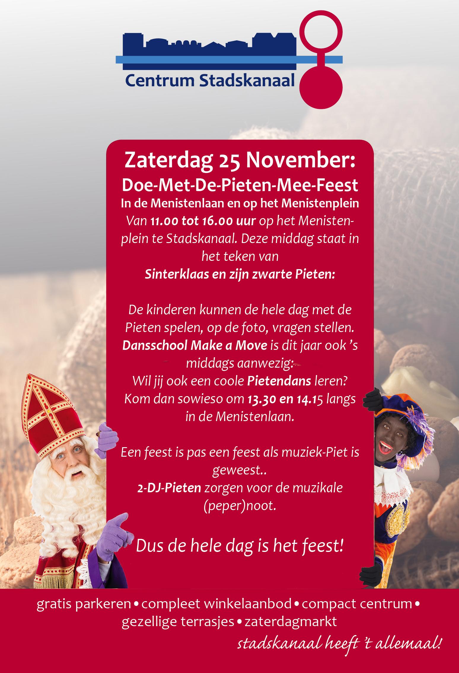 Sinterklaas En Zijn Doe Met De Pieten Mee Feest Centrum Stadskanaal